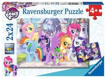 Puzzle 2x24 p - Poneys magiques / My Little Pony Puzzle;Puzzles enfants - Image 1 - Ravensburger