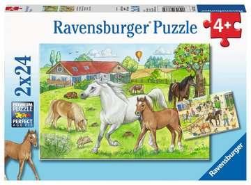 At the stables Puslespil;Puslespil for børn - Billede 1 - Ravensburger