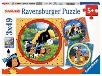 08000 Kinderpuzzle Yakari, der tapfere Indianer von Ravensburger 1