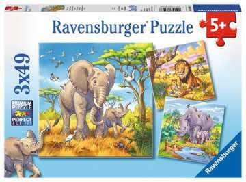 Wild Animals              3x49p Puslespil;Puslespil for børn - Billede 1 - Ravensburger