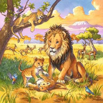 Wilde Giganten Puzzle;Kinderpuzzle - Bild 3 - Ravensburger