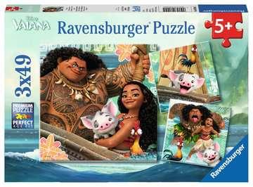 Vaiana s voyage of discovery 3x49 pc Puslespil;Puslespil for børn - Billede 1 - Ravensburger