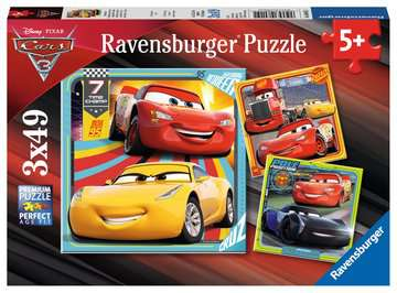 Disney Pixar Cars 3, 3 x 49pc Puzzles;Children s Puzzles - image 1 - Ravensburger
