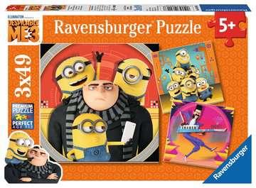Mimoňové: Já Padouch 3   3x49 dílků 2D Puzzle;Dětské puzzle - obrázek 1 - Ravensburger