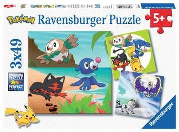 Pokemon 3x49pc Puzzles;Children s Puzzles - image 1 - Ravensburger