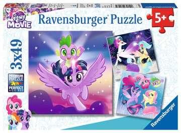 Puzzle 3x49 p - Aventures avec les poneys / My Little Pony Puzzle;Puzzles enfants - Image 1 - Ravensburger