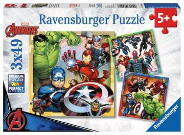 Avengers Assemble 3x49pc Puzzles;Children s Puzzles - image 1 - Ravensburger