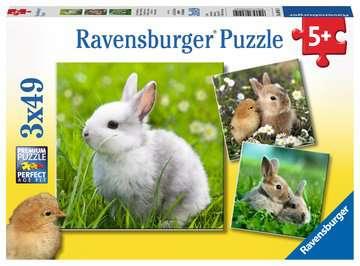 08041 Kinderpuzzle Niedliche Häschen von Ravensburger 1