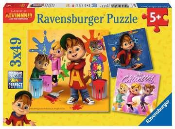 ALVIN I WIEWIÓRKI 3X49EL Puzzle;Puzzle dla dzieci - Zdjęcie 1 - Ravensburger
