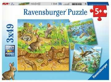 08050 Kinderpuzzle Tiere in ihren Lebensräumen von Ravensburger 1
