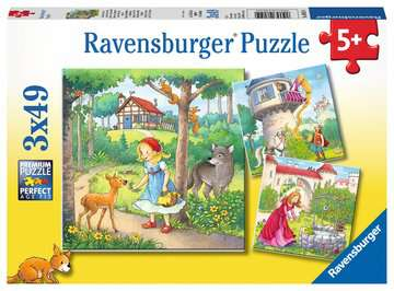 Rapunzel, Little Red Riding Hood, and The Frog Prince Jigsaw Puzzles;Children s Puzzles - image 1 - Ravensburger