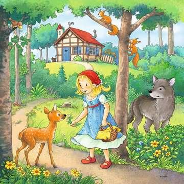 08051 Kinderpuzzle Rapunzel, Rotkäppchen & der Froschkönig von Ravensburger 2
