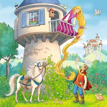 08051 Kinderpuzzle Rapunzel, Rotkäppchen & der Froschkönig von Ravensburger 3