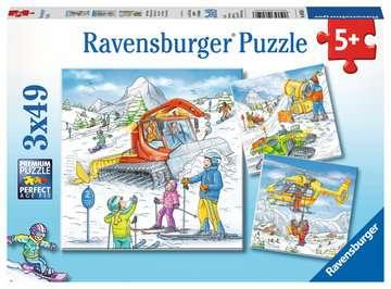 08052 Kinderpuzzle Auf der Skipiste von Ravensburger 1
