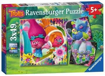 Trolové 3x49 dílků 2D Puzzle;Dětské puzzle - image 1 - Ravensburger
