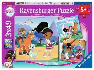 Nella the Princess Knight, 3x49pc Puslespil;Puslespil for børn - Billede 1 - Ravensburger