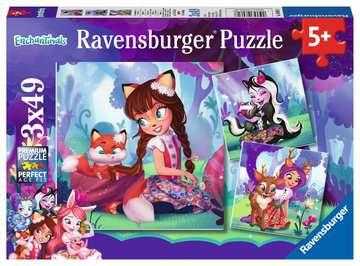 Puzzles 3x49 p - Le monde merveilleux des Enchantimals Puzzle;Puzzle enfant - Image 1 - Ravensburger