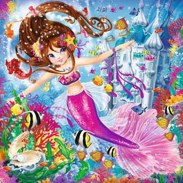 08063 Kinderpuzzle Bezaubernde Meerjungfrauen von Ravensburger 2