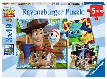 Toy Story 4, 3x49pc Puslespil;Puslespil for børn - Billede 1 - Ravensburger