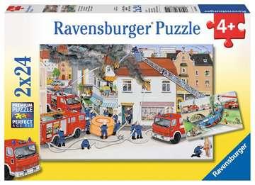 08851 Kinderpuzzle Bei der Feuerwehr von Ravensburger 1