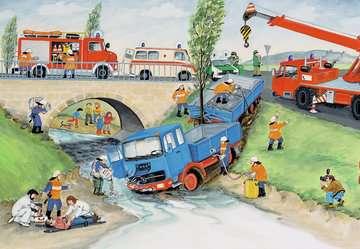 08851 Kinderpuzzle Bei der Feuerwehr von Ravensburger 2
