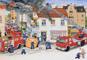 08851 Kinderpuzzle Bei der Feuerwehr von Ravensburger 3