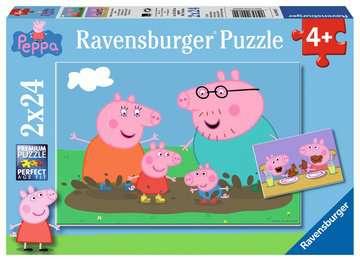 Puzzles 2x24 p - La vie de famille / Peppa Pig Puzzle;Puzzle enfant - Image 1 - Ravensburger
