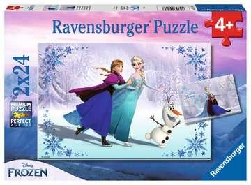 Puzzles 2x24 p - Sœurs pour toujours / Disney La Reine des Neiges Puzzle;Puzzle enfant - Image 1 - Ravensburger