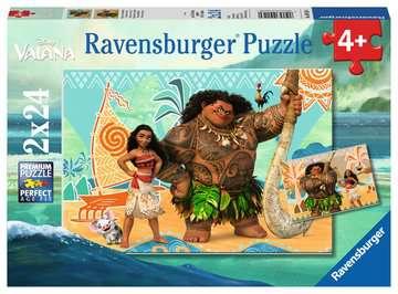 Puzzles 2x24 p - Vaiana et ses amis / Disney Puzzle;Puzzle enfant - Image 1 - Ravensburger