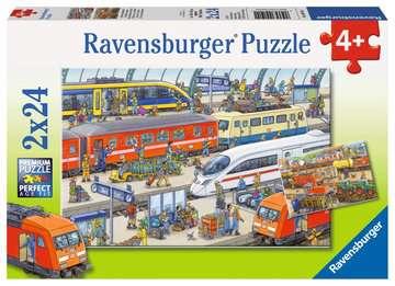 09191 Kinderpuzzle Trubel am Bahnhof von Ravensburger 1