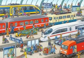 09191 Kinderpuzzle Trubel am Bahnhof von Ravensburger 2