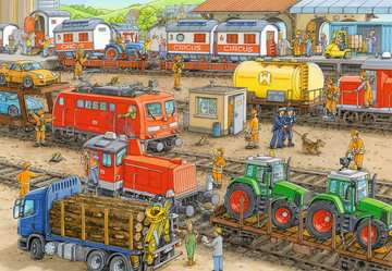 Trubel am Bahnhof Puzzle;Kinderpuzzle - Bild 3 - Ravensburger