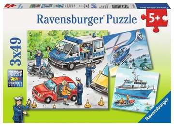 09221 Kinderpuzzle Polizeieinsatz von Ravensburger 1