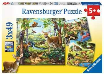 09265 Kinderpuzzle Wald-/Zoo-/Haustiere von Ravensburger 1