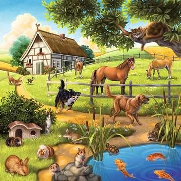 09265 Kinderpuzzle Wald-/Zoo-/Haustiere von Ravensburger 2