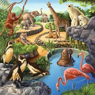 09265 Kinderpuzzle Wald-/Zoo-/Haustiere von Ravensburger 4