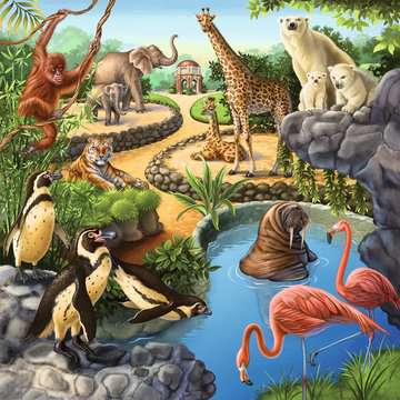 Wald-/Zoo-/Haustiere Puzzle;Kinderpuzzle - Bild 4 - Ravensburger
