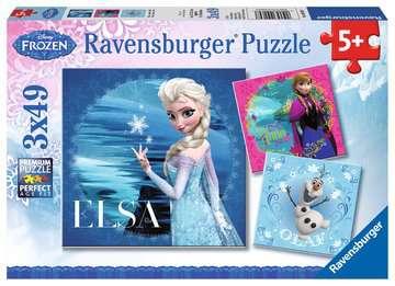 Puzzles 3x49 p - Elsa, Anna & Olaf / Disney La Reine des Neiges Puzzle;Puzzle enfant - Image 1 - Ravensburger
