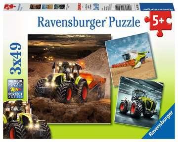 09301 Kinderpuzzle CLAAS: Axion, Lexion, Xerion von Ravensburger 1