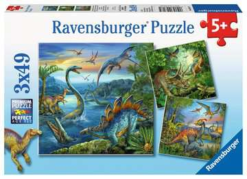 Puzzles 3x49 p - La fascination des dinosaures Puzzle;Puzzle enfant - Image 1 - Ravensburger
