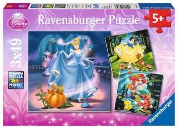 09339 Kinderpuzzle Schneewittchen, Aschenputtel, Arielle von Ravensburger 1
