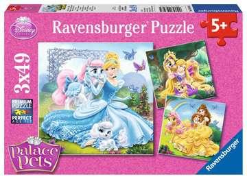 Palace Pets -  Belle, Cinderella und Rapunzel Puslespil;Puslespil for børn - Billede 1 - Ravensburger