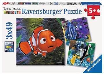 Puzzle 3x49 p - Dans l aquarium / Némo Puzzles;Puzzles pour enfants - Image 1 - Ravensburger