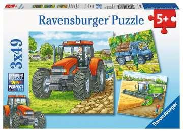MASZYNY NA FARMIE 3X49 Puzzle;Puzzle dla dzieci - Zdjęcie 1 - Ravensburger