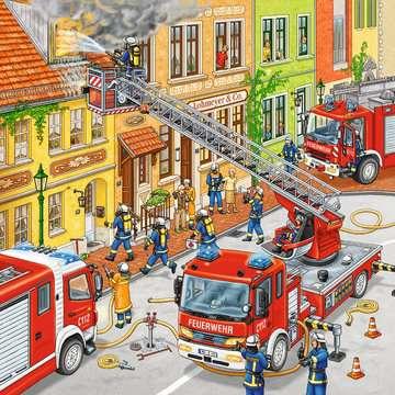 09401 Kinderpuzzle Feuerwehreinsatz von Ravensburger 4