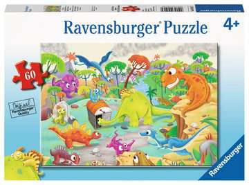 Time Traveling Dinos Jigsaw Puzzles;Children s Puzzles - image 1 - Ravensburger