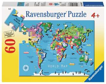 World Map Jigsaw Puzzles;Children s Puzzles - image 1 - Ravensburger