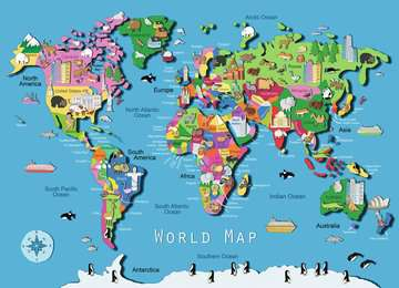 World Map Jigsaw Puzzles;Children s Puzzles - image 2 - Ravensburger