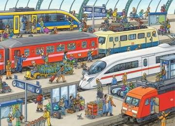 Railway Station Jigsaw Puzzles;Children s Puzzles - image 2 - Ravensburger