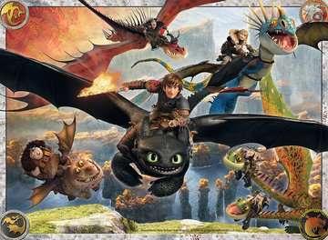 DRAGONS: OSWOJONE SMOKI 150 EL Puzzle;Puzzle dla dzieci - Zdjęcie 2 - Ravensburger